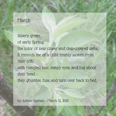 A poem about March and early spring, by Amber Shehan of Pixiespocket.com
