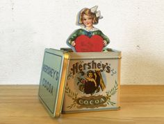 Vintage Valentine Tin with Vintage by RedRavenCollectibles on Etsy ***ALSO SEE Vintage Jewelry at: http://MyClassicJewelry.com/shop