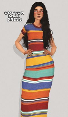Lana CC Finds - puresims: maxi tee dress new mesh / 4 swatches...
