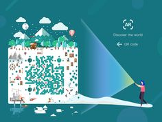 QR code designed by anananchao. Connect with them on Dribbble; the global community for designers and creative professionals. Qr Codes, Visual Communication, Packaging Design, Illustrations, Winter, Creative, Inspiration, Collection, Advertising