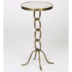Shop for Small Chain Link End Table with Granite Top. Get free delivery at Overstock.com - Your Online Furniture Destination! Get 5% in rewards with Club O!