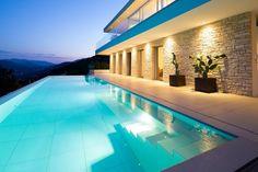 Philipp Architekten have designed #House Lombardo, located above Lake Lugano, Switzerland.