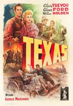 "Movie Posters:Western, Texas (Columbia, 1947). First Post-War Release Italian 4 - Foglio(55"" X 78"").. ... Image #1"