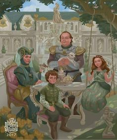 House Tyrell – Game of Trones – winter is coming Arte Game Of Thrones, Game Of Thrones Artwork, Game Of Thrones Fans, Winter Is Here, Winter Is Coming, Margaery Tyrell, Daenerys Targaryen, Manga Comics, Tyrell Family