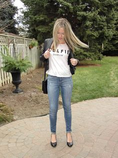 A graphic tee always adds a little edge to any look. http://sincerelymissashley.blogspot.ca