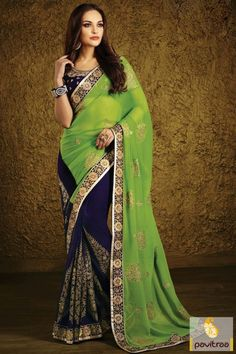 #CobaltBlue and #Olive #Chiffon Wedding Party Saree Online #saree, #sari, #sarees, #designer, #bridal, #wedding, #partywear, #indianfashion, #indian, #latestsaree, #designer, #ethnicwear, #shaddi, #bridesmaids #blouse,   #outfit, #newcollection, #discountoffer, #weddingwear, #indianwedding, #heavywork, #weddingreception, #engagement More Product : http://www.pavitraa.in/store/party-wear-saree/ Any Query :  Call / WhatsApp : +91-76982-34040  E-mail: info@pavitraa.in