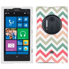Amazon.com: Nokia Lumia 1020 Chevron Peach Pink Green Red Pattern Phone Case Cover: Cell Phones & Accessories