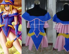 2016  Dark Magician Girl Cosplay Costume Anime custom any size Halloween
