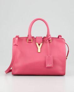 Y-Ligne Cabas Mini Satchel Bag, Pink by Saint Laurent at Neiman Marcus.