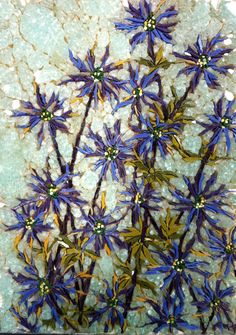 """""""Sea Holly"""" - mosaic by Kimmy McHarrie"""