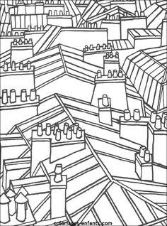 Coloriage des toits de Paris