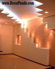 modern plaster of paris ceiling and drywall lighting ideas, pop designs 2015
