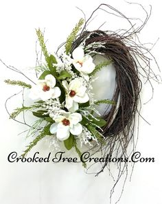 Large Magnolia Birch Wreath