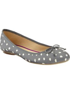 Old Navy | Women's Printed Canvas Ballet Flats