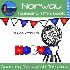 Norway Research Mini Book is a research template to have your students learn about a country in a new and fascinating way.  It works well for a whole class activity or can be combined with a variety of other country mini books (available in my store) for differentiated instruction throughout your classroom.Younger students can use the first 7 pages and National Geographic for Kids to complete a mini book of facts, while older students can continue on through the additional pages to complete…