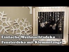 DIY: Fenster Weihnachtsdeko mit Gardinenstange / Christmas window decoration - Y. Handmade Christmas Tree, Christmas Paper Crafts, Holiday Crafts For Kids, Christmas Home, Christmas Ornaments, Christmas Window Decorations, Holiday Decor, Christmas Inspiration, Creations