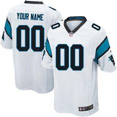 f460c4f44 Nike Carolina Panthers Customized White Stitched Elite Youth NFL Jersey  Jersey Nike