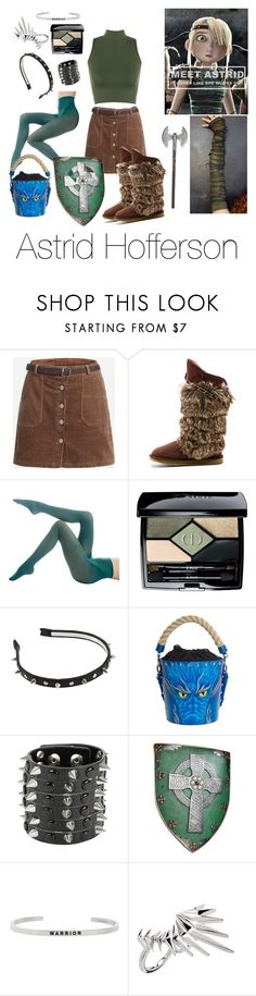 """""""Astrid How to train your dragon"""" by area2002 on Polyvore featuring Australia Luxe Collective, Hue, Christian Dior, J.W. Anderson, Hot Topic, MantraBand and Noir Jewelry"""