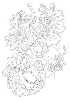 Coloring antistress lace with beads Flower Coloring Pages, Adult Coloring Pages, Kirigami, Hand Embroidery, Embroidery Designs, Printed Pages, Free Coloring, Zentangle, Crochet