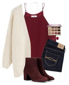 """30 degrees..."" by katelynnenpatton ❤ liked on Polyvore featuring Wilfred, Chicwish, Abercrombie & Fitch, Stuart Weitzman, Kendra Scott and tarte"
