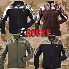 Camo micro fleece jackets from Rocky - men's and ladies | ChickSaddlery.com