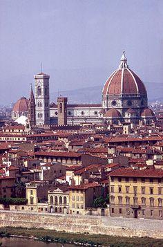 Florence Cathedral (Santa Maria del Fiore, called the Duomo), dome, 1420–36, by Filippo Brunelleschi (1377–1436).
