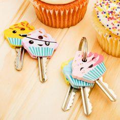 cupcake keys to keep everything sorted! :)