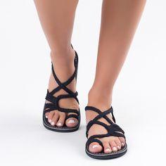 Black Classic Plaka Palm Leaf Sandals  #handmade #sandals #summer #fashion #black