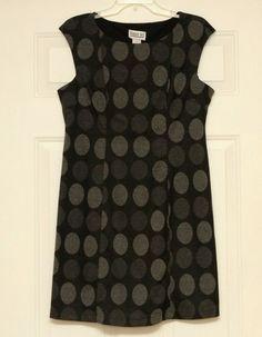 Robbie Bee Women's 60's Style Go-Go Polka Dot Tunic Dress Size Petite Large #RobbieBee #The60s #GoGo #shopping #womensfashion