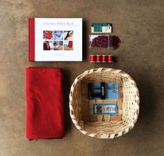 This Alabama Chanin Valentine's Day basket is perfect for the DIY-er in your life. Featuring 'Alabama Stitch Book', a yard of 100% organic cotton jersey, scissors, and other sewing notions. Call +1.256.760.1090 to purchase, customize, and share the love. $120.00.