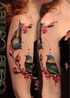 Tattoo is considered as an expressive and artistic statement for modern people. After you have decided to ink the tattoo with meaning, the next consideration would be deciding with your artist which kind of style the tattoo should be, colorful tattoo or black and grey.