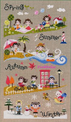 Petit Four Season - G37 - Counted Cross Stitch Original Design Pattern Chart