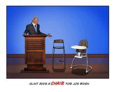 Clint adds a chair for Biden