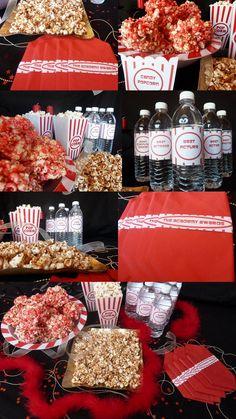 Oscar Party Ideas - Popcorn Party Theme | Trendy Girl Party