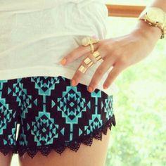 Turquoise & black skirt :)