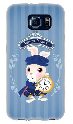 "Amazon.com: Blue, Gold and White {Alice in Wonderland Characters} Soft and Smooth Silicone Cute 3D Fitted Bumper Back Cover Gel Case for Samsung Galaxy S6 ""Durable and Slim Flexible Fashion Cover with Amazing and Creative Cartoon Design - All Ports Accessible"": Cell Phones & Accessories"