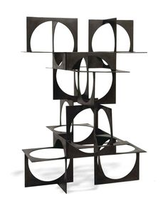 Franz Weissmann (Austrian/Brazilian 1911-2005) Estructura welded steel 39 3/8 x 27½ x 27½ in. (100 x 70 x 70 cm.) Executed in 1969.  Literature  Exhibition catalogue, Os artistas a e Olivetti, São Paulo, Museu de Arte de São Paulo, Assis Chateaubriand, 1976, no. 169 (illustrated in color).