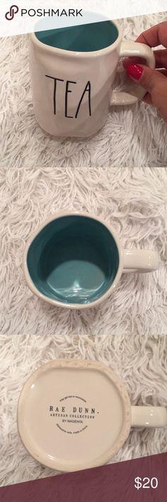 """Rae Dunn Artisan Collection mug """"tea"""" NWOT . Inside color is light turquoise rae dunn Other"""