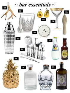 Barware essentials, and some not so.
