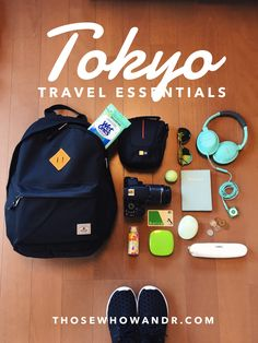 I spent four days in Tokyo, Japan and the majority of each day was spent  exploring different parts of the city. These were my daily travel  essentials. Cash rules in Japan and comfortable shoes are a must!