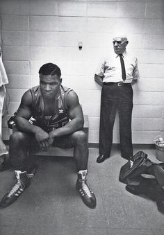 Mike Tyson antes de sua primeira luta como professional