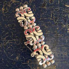Azteca Taxco Mexican Silver Bracelet