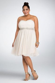 This swingy lil (convertible) thing. | 17 Quirky Plus-Size Wedding Dresses You Can Actually Afford