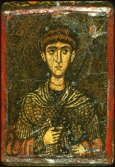 The Great Martyr Demetrius of Thessalonica. Mid-11th century. The Holy Monastery of Saint Catherine, Sinai