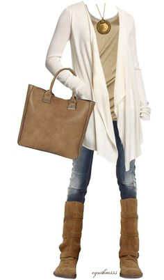 """Comfy Neutrals"" by cynthia335 on Polyvore"