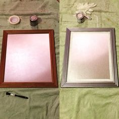 Quick little up-cycle project I did this evening. No point wasting a perfectly good mirror. #upcycle #upcycling #reuse #craft #project #mirror #pine #silver #diy #revamp #goodasnew by squawkes