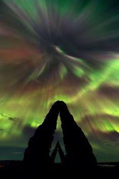 アイスランドの極光、星空写真2012