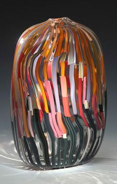 'Circuits Vase' by American glass blowers Bengt Hokanson and Trefny Dix.