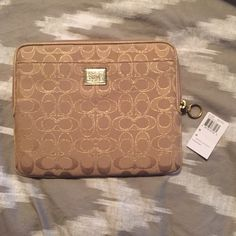 NWT coach tablet case Brand new! Never used Coach Accessories Tablet Cases
