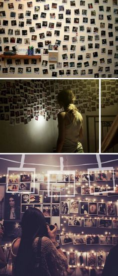 photo-wall. I am completely in love with this. Well on my way, I just need tiny lights (and a lot more photos!)